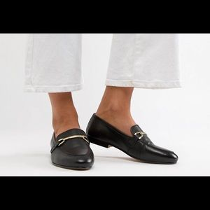 ASOS design leather loafers